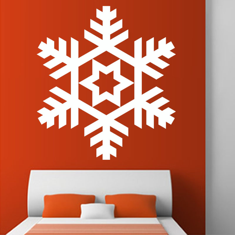 Hot Sale Winter Snowflake Art Wall Decal Vinyl Self Adhesive Home Decor Wall Sticker For Christmas Day