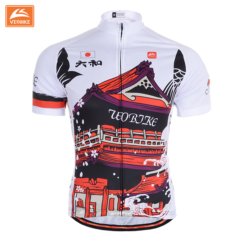 2015 New Cool Mens Bicycle Jersey Ladies Cycling Clothing Breathable Unisex High Quality Veobike Japan Design(China (Mainland))