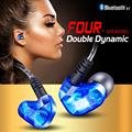 Hot Sale Moxpad X90 Dynamic Dual Drivers Wireless Bluetooth 4 1 Hifi Earphone Sport Running earphone