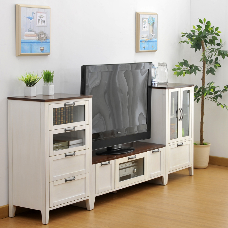 Simple combinations of wild oak wood cabinets living room tv cabinet lockers storage cabinets for Small storage cabinet for living room