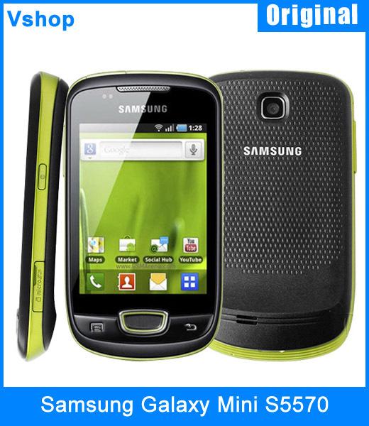 Refurbished Original Samsung Galaxy Mini S5570 SmartPhone Support 3G WCDMA GSM GPS WIFI Bluetooth Qualcomm MSM7227 Android 2.2(China (Mainland))