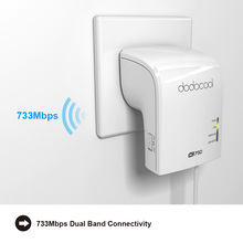 dodocool Dual Band  802.11a/b/g/n/ac Router 2.4GHz 300Mbps 5GHz 433Mbps Wireless WiFi Router Repeater Signal Booster Roteador(China (Mainland))