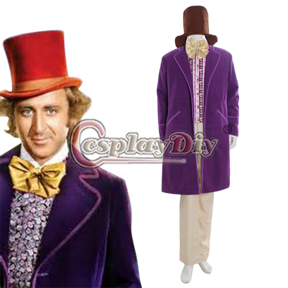 1971 Purple Charlie and the Chocolate Factory Gene Wilder as Willy Wonka Jacket Custom Made D1107(China (Mainland))
