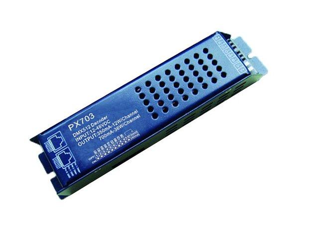 350mA/700mA output dmx constant current decoder,DC12-48V input