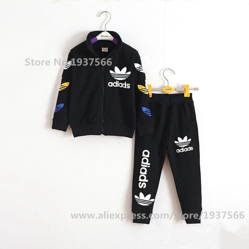 3 10y Kids Baby Boys Autumn Winter Sports Suit 2 Pieces Set Tracksuits Kids Clothing Sets