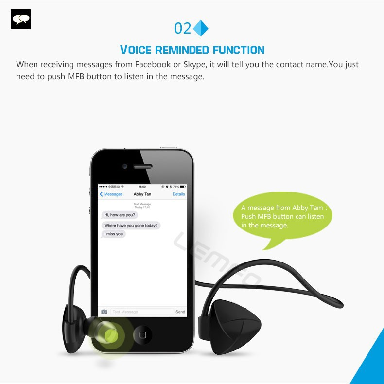 SH03D Wireless Bluetooth 4.0 Stereo Headset In-ear Handsfree NFC Earphone Sports Headphone Self Timer for iPhone Samsung Phones