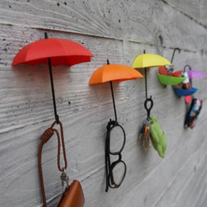 Colorful Umbrella Wall Hook Key Glasses Wallet Hair Pin Holder Organizer Decorative Decor Home Decoration - JJBird store