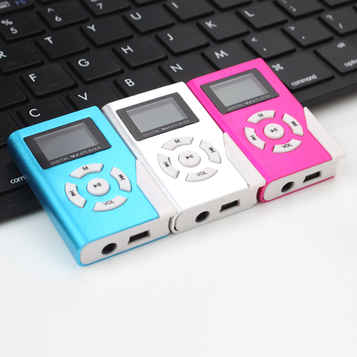 New Portable MP3 LCD Screen Metal Mini MP3 Player With Micro TF/SD Card Slot With High Quality Earphone Music players(China (Mainland))