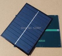Polycrystalline Solar Panel 1.1W 6V Solar Cell Solar Module DIY Solar Charger 112*84mm Wholesale 30pcs/lot Free Shipping