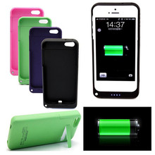 Luxury 4200 mah Rechargeable External Battery Backup Charger Case Cover Pack Power Bank for Apple iPhone 5 5S 9 Colors Available