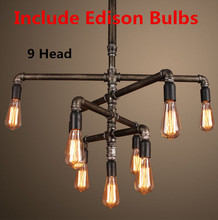 Nordico RH LOFT Pendant Lights American Vintage Industrial Pipes Lamp Hanging Coffee Bar Cloth Store Creative Fixtures Bulb E27
