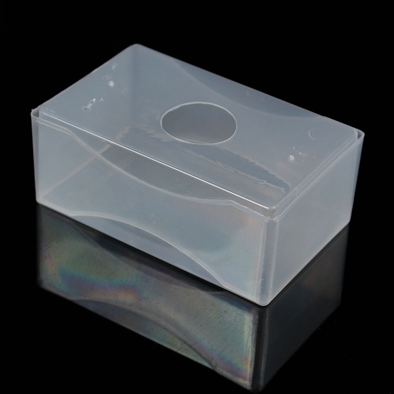 2018 wholesale brand new clear plastic card holder business card 1 x business card box reheart Image collections