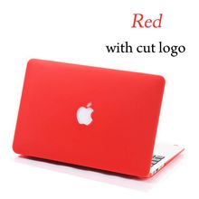 2015 NEW Cut Logo Matte Case For Apple Macbook Air Pro Retina 11 12 13 15 Laptop Cover For Mac book 13.3 inch(China (Mainland))