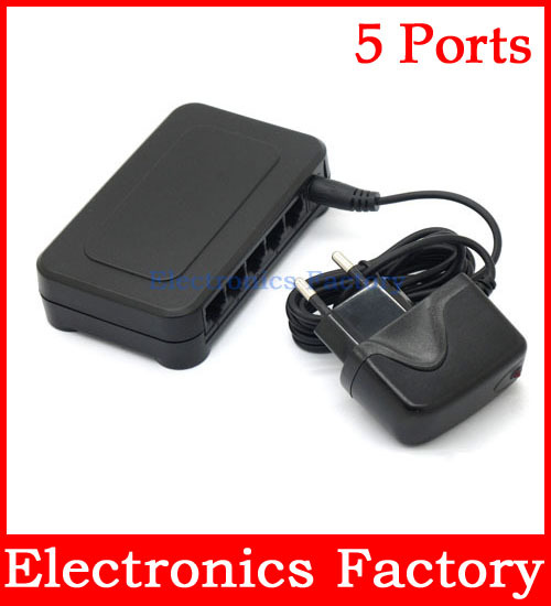 10/100Mbps 5 Ports Fast Ethernet LAN RJ45 Network Switch Switcher Hub Desktop PC 12v Dc Adapter(China (Mainland))