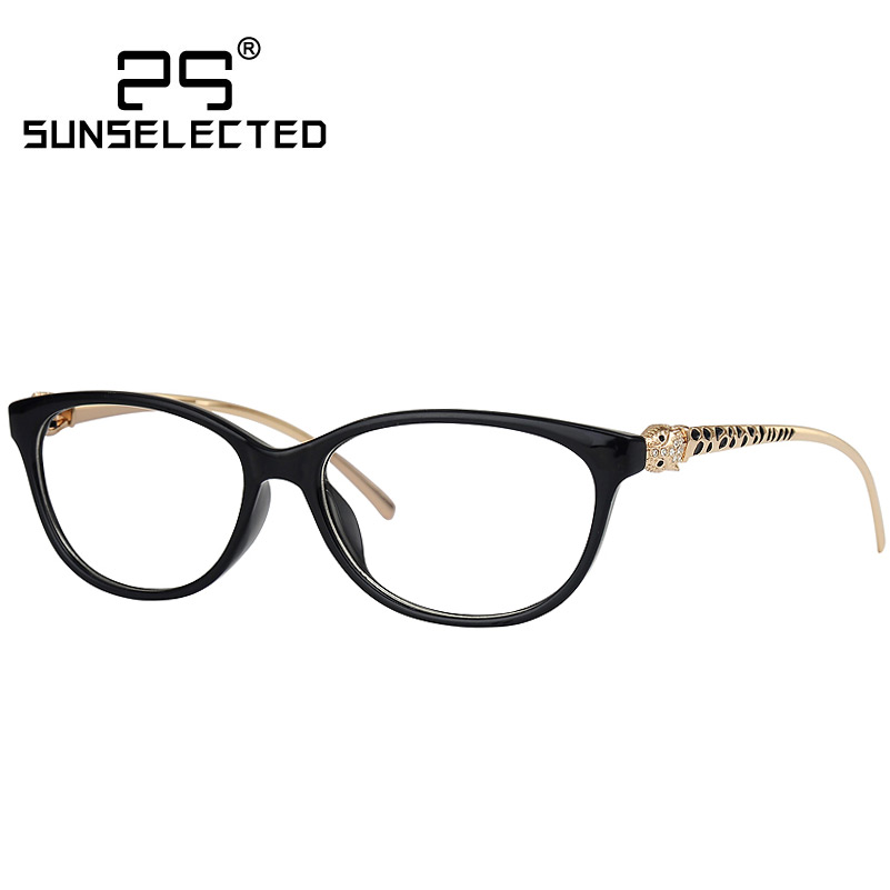 Designer Eyeglass Frames For Big Heads : New Cool Vintage Glasses Women Brand Designer Leopard ...
