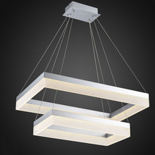 LED Chandelier Lighting Silver Rectangle Light Fixture(China (Mainland))