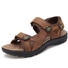 New Arrival Authentic Camel Men's Sandals Male Genuine Leather Beach Sandals 2015 Summer Men Sandals 1218(China (Mainland))