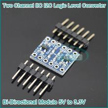 Buy 5PCS Two Channel IIC I2C Logic Level Converter Bi-Directional Module 5V 3.3V for $1.20 in AliExpress store