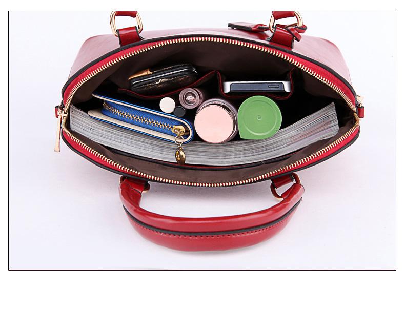 Women Retro Shell Bag New Fashion Patchwork Handbag Concise Plain PU Leather Bag Ladies Vintage Designer Shoulder Bag