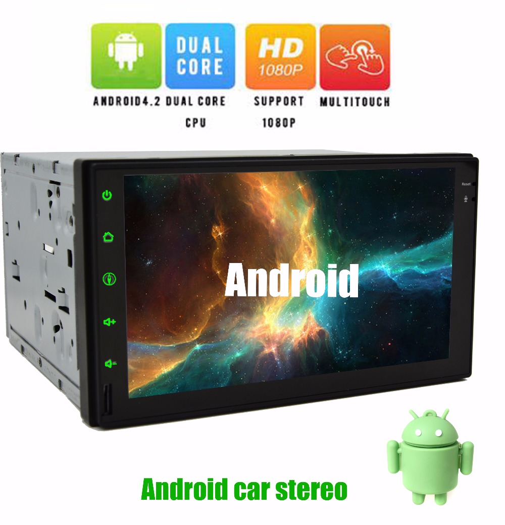 Universal Dual Core 7inch Double 2Din Android in dash Car DVD Player GPS Navigation +Wifi+Bluetooth+Radio+Car Stereo aduio video(China (Mainland))