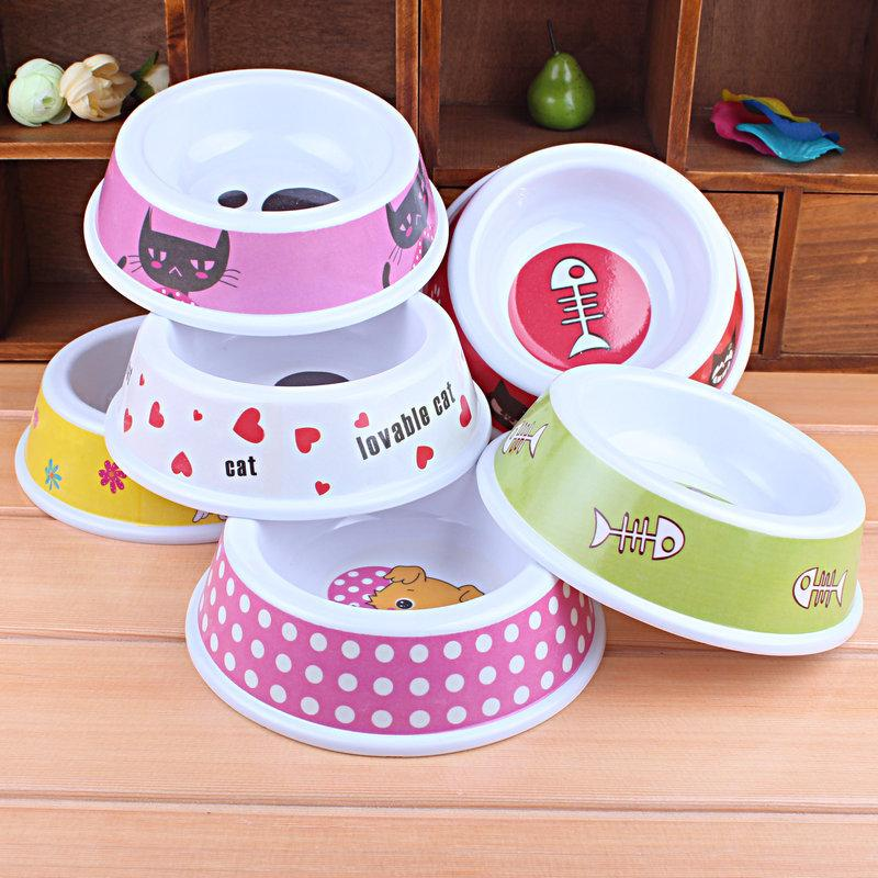 Free Shipping Dog Pet Portable Plastic Drinking Bowls For Dogs Water Dish Feeding Bowl Comedouro Para Cachorro Products For Dogs(China (Mainland))