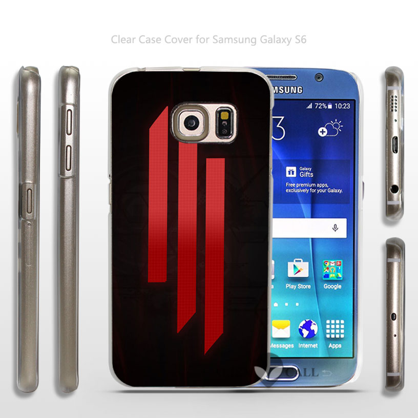 Cool Band Music Singer Skrillex Hard Transparent Clear Case Cover for Samsung Galaxy s3 s4 mini s6 dege plus(China (Mainland))