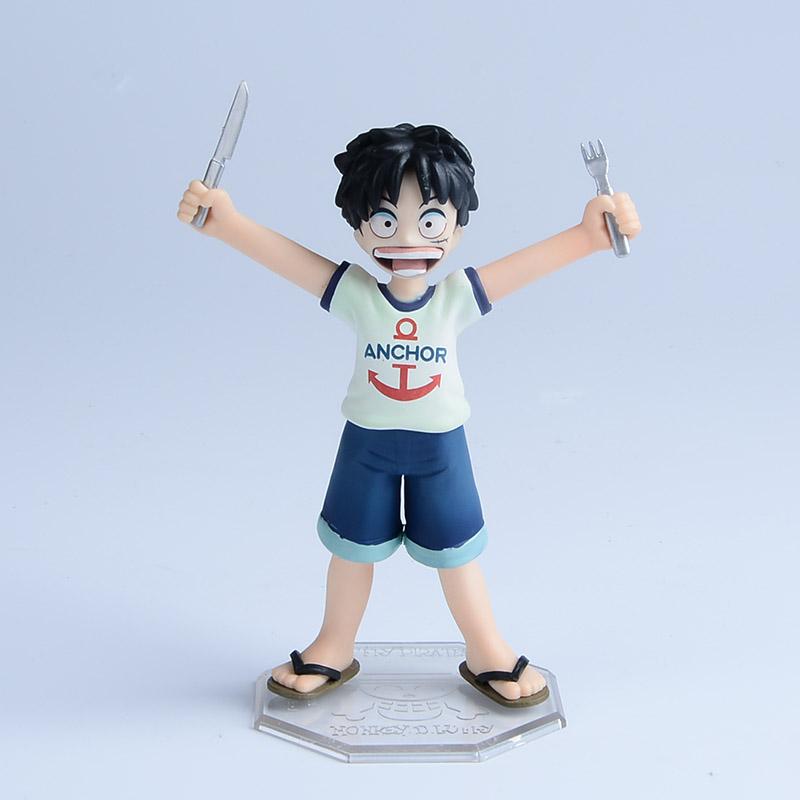 ONE PIECE Childhood Figure Japanese One Piece Monkey D Luffy PVC 12cm Action Figures Kids Toys Anime POP Figurine Doll(China (Mainland))