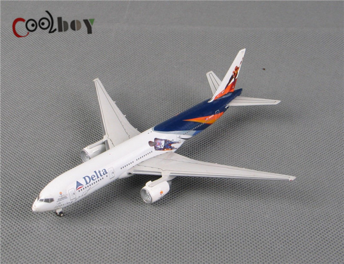 1:400 Scale Models Aircraft Delta N864DA Hockey Spoiler Diecast Airplane Model Toys Brinquedos White Hot Sale(China (Mainland))