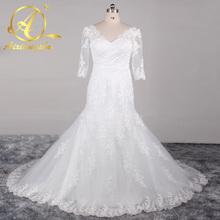 Buy Elegant Lace Mermaid Wedding Dresses China Tulle Wedding Gowns Weding Bridal Bride Dresses Weddingdress robe de mariage for $137.99 in AliExpress store