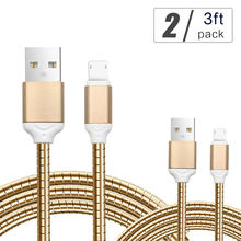 Buy 2PCS YFW 2 1 QC 3.0 Quick Charger Cable Reversible USB Metal Cable Data Sync Cord Lightning iPhone Micro USB Android for $4.40 in AliExpress store