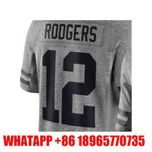 Cheap High quality Men's #12 Aaron Rodgers 100% Stitched Logos Gray Gridiron Gray Limited hot sale Free shipping(China (Mainland))