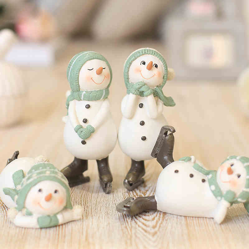 Online buy wholesale snowman figurine from china