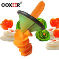 COXEER 1Pcs Wholesale Kitchen Aid Veggie Spiralizer Cutter Dicer Random color freeshipping