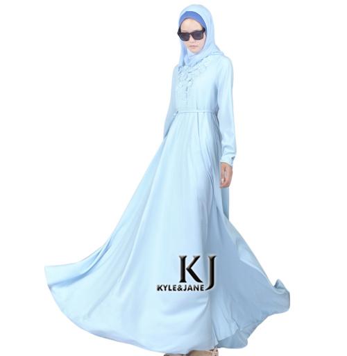 2015 fashion abaya muslim girls long dress turkish women clothing burqa with flowers robe plus size dubai arab djellaba KJ150901Одежда и ак�е��уары<br><br><br>Aliexpress
