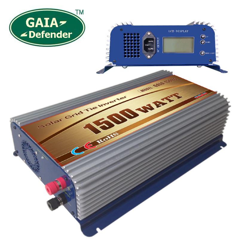 1500W Solar Grid Tie Inverter,LCD display DC45V-90V AC190V-260V single/3 Phase Connection(China (Mainland))