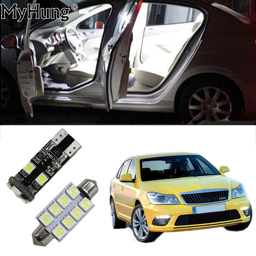 For Skoda Octavia Rs Fabia Rapid Car Led Interior Light Replacement