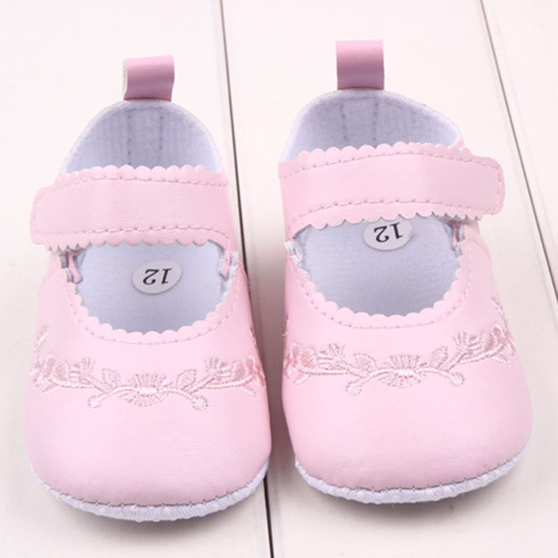 Hot Kid Girl Pu Leather Princess Crib Shoes Newborn Comfy Outdoor Baby Shoes<br><br>Aliexpress