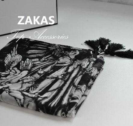Skull scarf three-dimensional large tassel black and white rayon cape silk angel skull cape headband free shipping(China (Mainland))