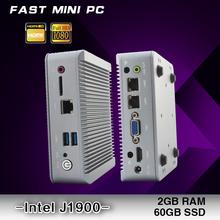 FAST MINI PC   Intel J1900 2GHz+ 2G RAM +60G SSD    2*LAN  2*USB 3.0