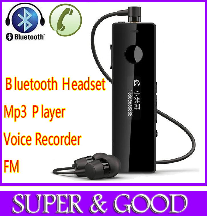 2014 New Bluetooth Mini storage digital voice recorder,dictaphone,smart mp3 player mobile handset,bluetooth headset hands free - Yao Lun's store