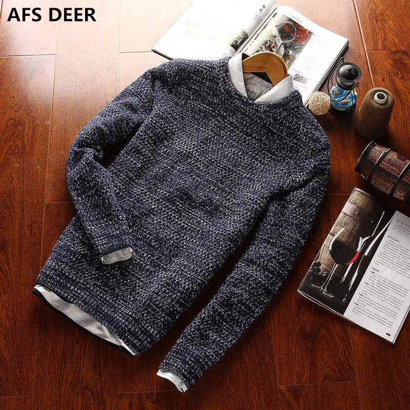 2016 new Spring solid Casual Men Sweater male Brands Sweater Winter Men's O-Neck Cotton Sweater Jumpers Pullover Sweater Men(China (Mainland))