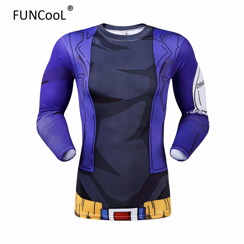 2016 Men 3D Dragon Ball Z T Shirt Vegeta Goku Piccolo Super Saiyan Tee Shirt Sport Fitness Gym t-shirt Anime Character CostumeОдежда и ак�е��уары<br><br><br>Aliexpress