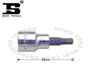 PRETTY 5Pcs 48mm Long 3/8 -inch Drive 6mm Steel Hexagon Screwdriver Bit Socket*