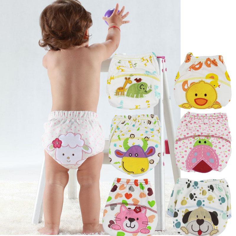 Baby/Infant Cotton Waterproof Reusable Nappy Diaper Training Pants Briefs Boy Girl Underwear washable fraldas reutilizaveis(China (Mainland))
