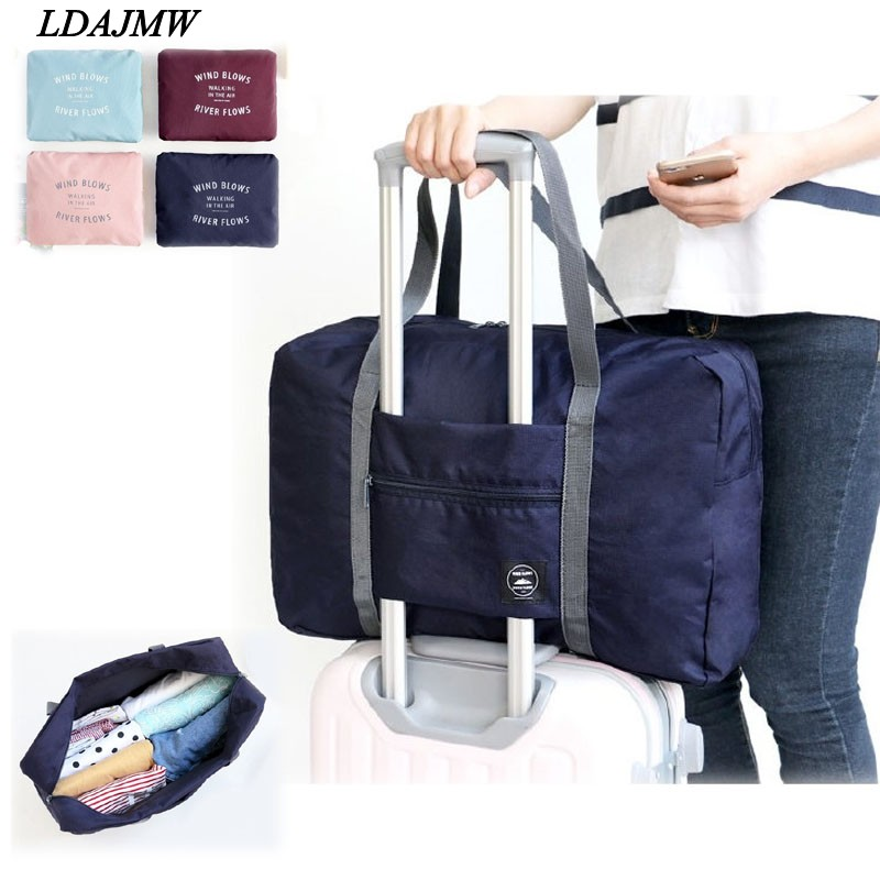 2017 Hot Casual Large Capacity luggage Packing Tote/Shoulder Travel Shopping Big Bag Folding Clothes Storage Pouch Organizer(China (Mainland))
