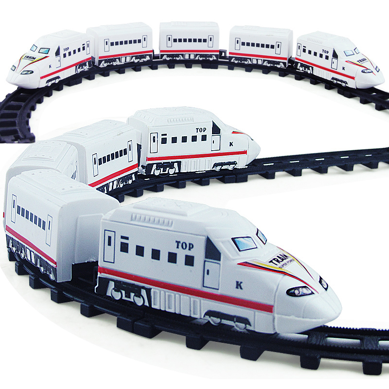 Fancy electric rail cars toys Simulation of high-speed rail small train baby car toy car(China (Mainland))