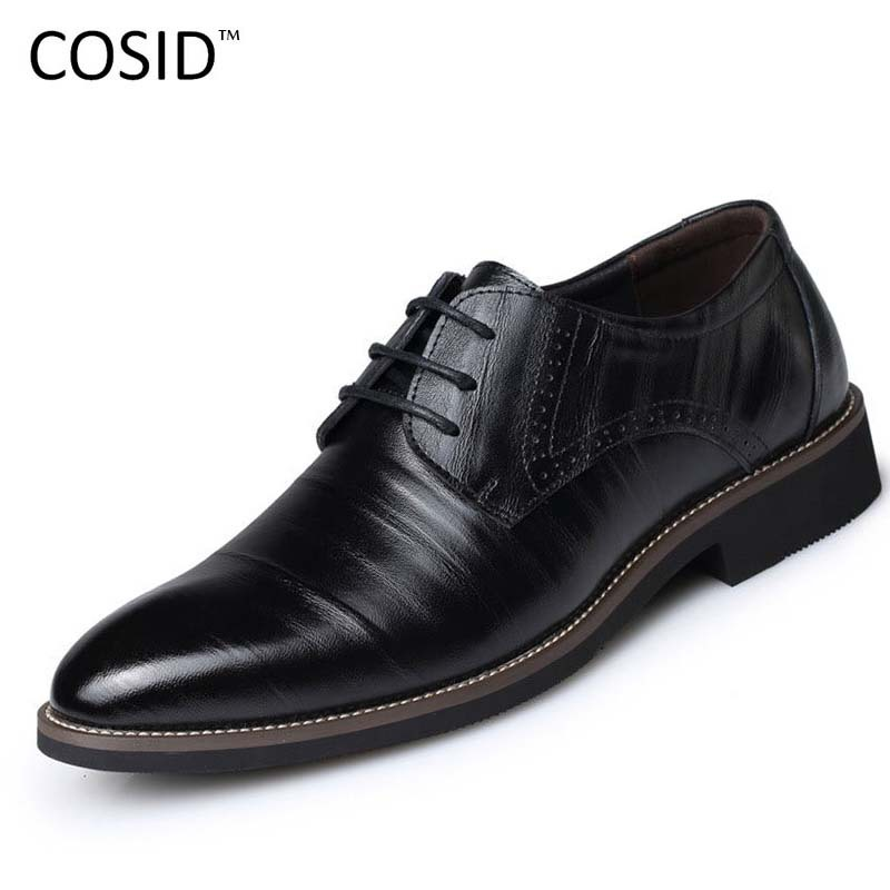 Гаджет  New 2015 Oxford Shoes For Men Dress Shoes Genuine Leather Office Shoes Summer Zapatos Hombre Black Mens Oxfords BRM-276 None Обувь