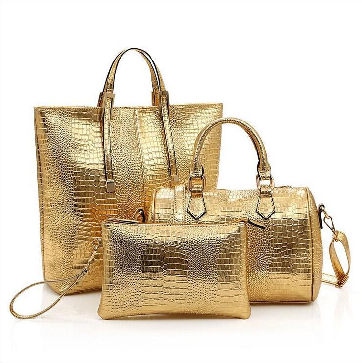 Women Leather Handbag Tote Purse Satchel Retro Hobo Messenger Shouder Bag Wristlets Day Cluthes Evening Composite bags 3PCS/Sets<br><br>Aliexpress