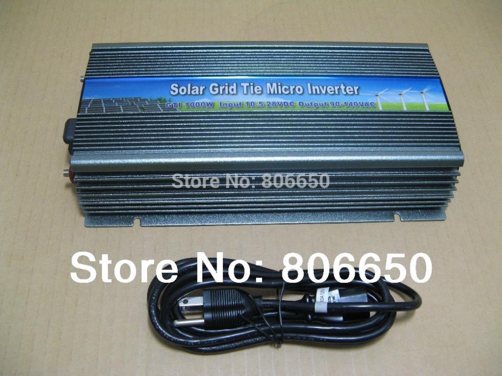 1000W solar panel inverter 12V-110V micro grid tie inverter for solar home system, MPPT function Grid tie power inverter 1000W(China (Mainland))