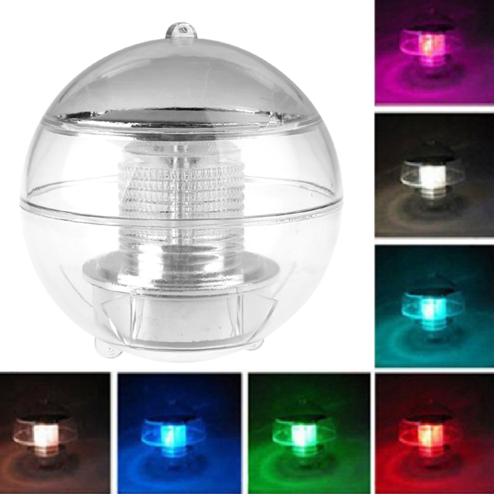 New Waterproof Pool Solar Power RGB LED Floating Light Lamp 2V 60mA Outdoor Garden Pond Landscape Color Changing Night Lights(China (Mainland))